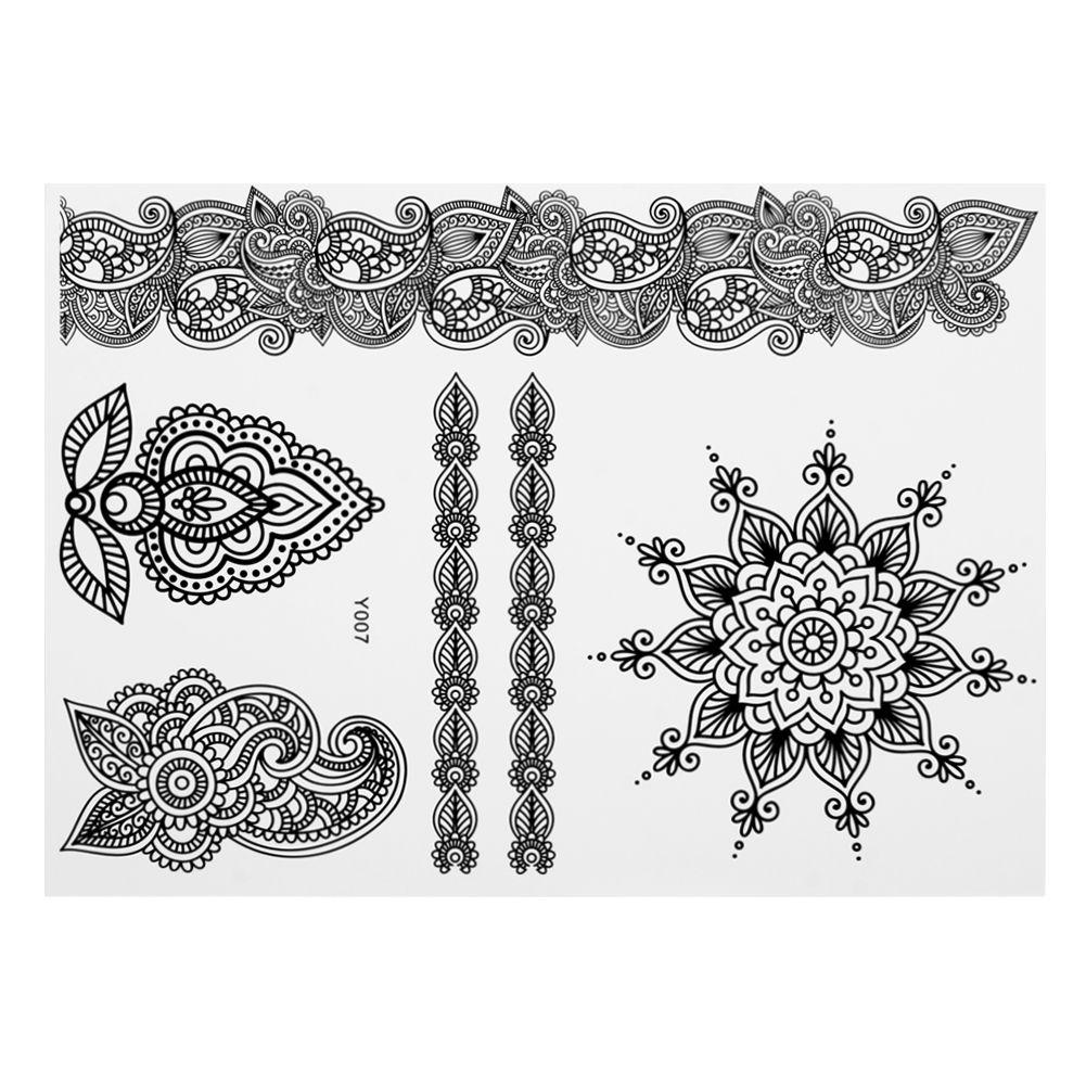 White Ink Henna: New Wedding Bridal Lace Temporary Tattoos White Henna Ink