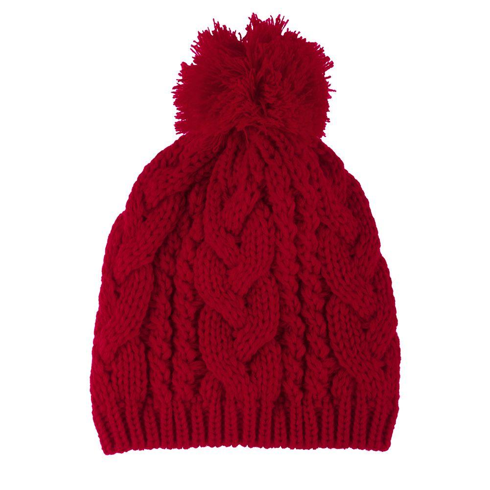 new fashion winter warm women men knit ski beanie ball. Black Bedroom Furniture Sets. Home Design Ideas