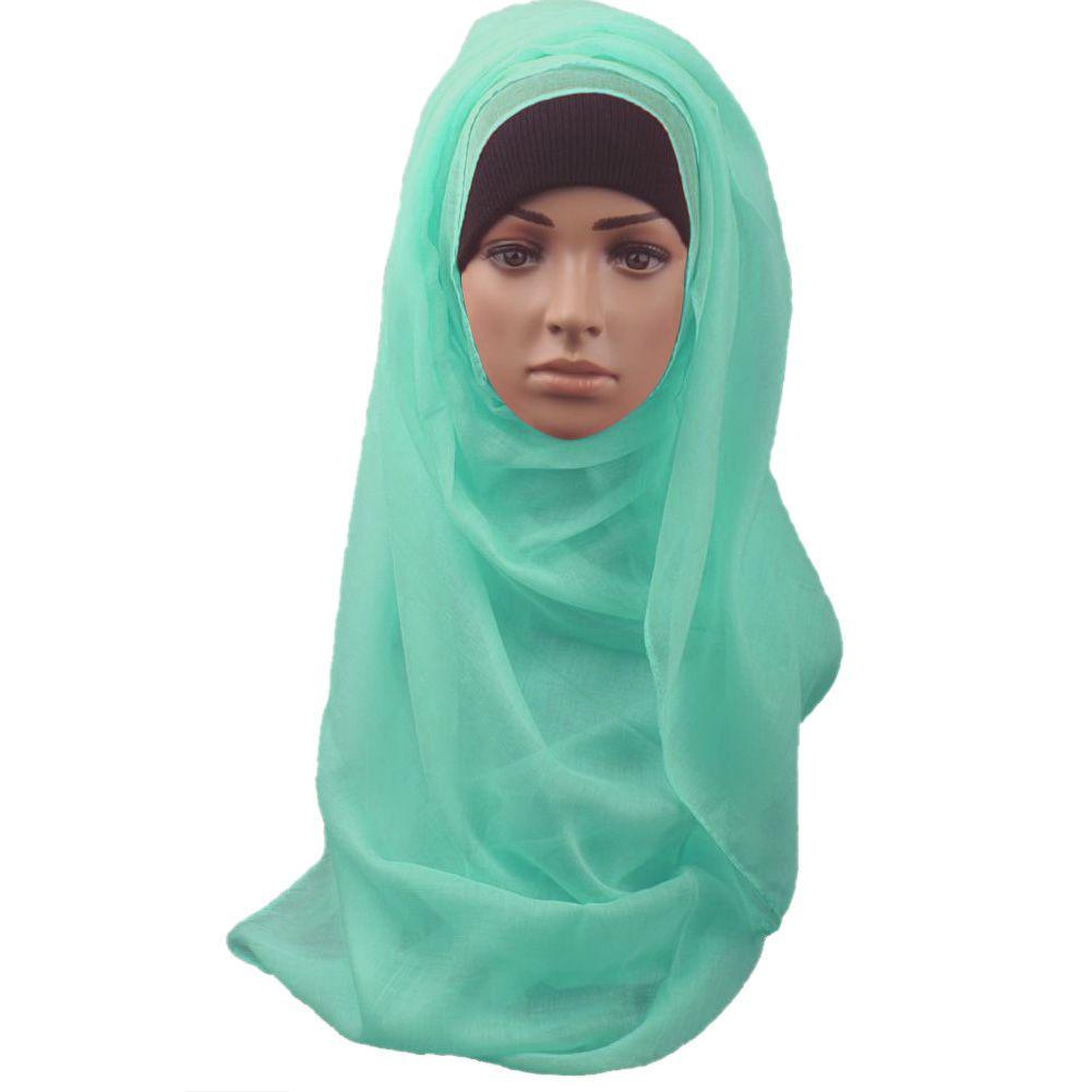 201509: Muslim Long Soft Hijab Maxi Islamic Scarf High Quality