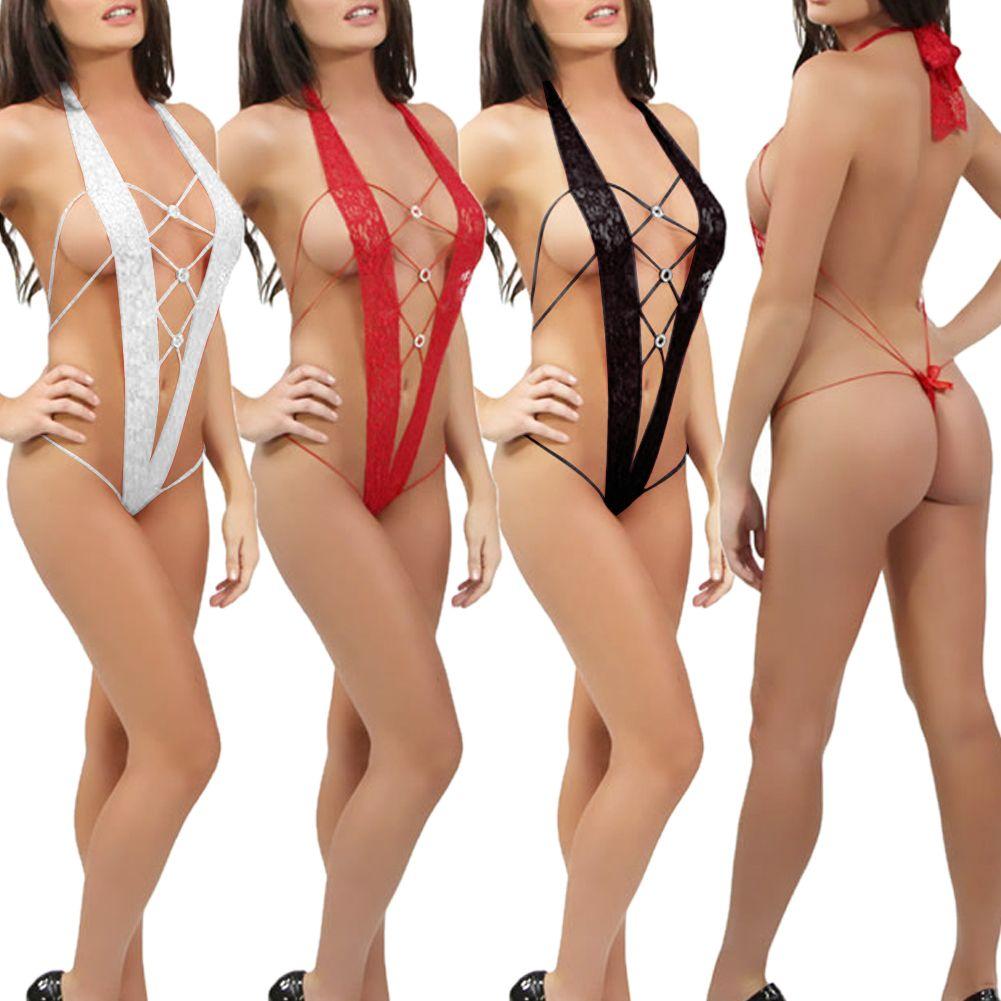 Women Sexy Lace Dress Lingerie Nightwear Underwear ...