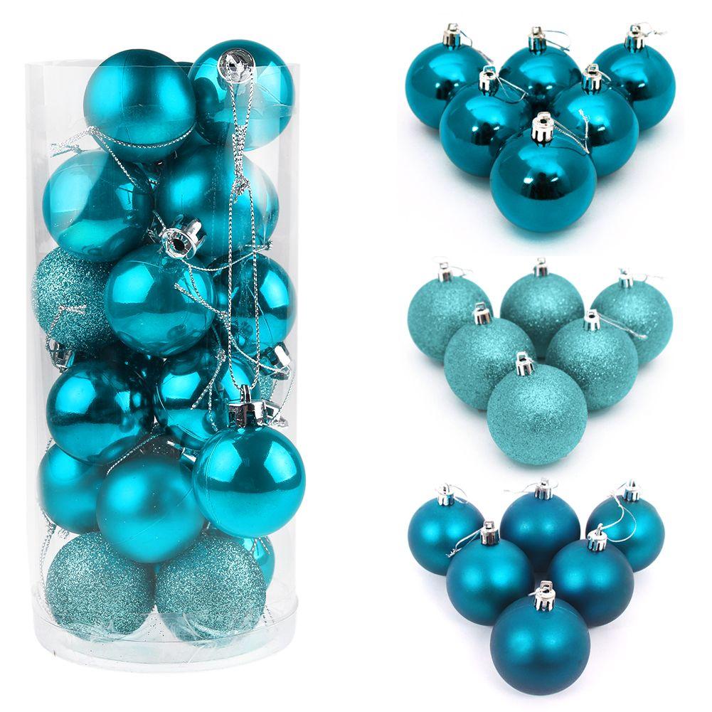 24pcs christmas tree balls decorations baubles wedding. Black Bedroom Furniture Sets. Home Design Ideas